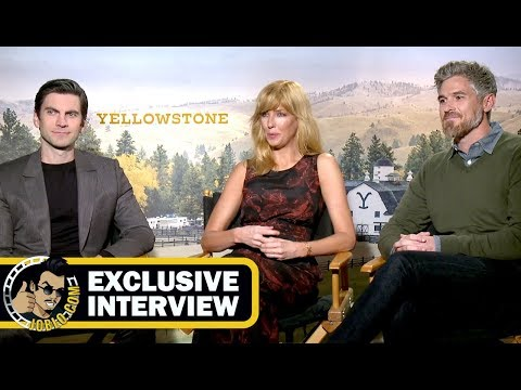 Wes Bentley, Kelly Reilly & Dave Annabelle YELLOWSTONE ! JoBlo.com Exclusive