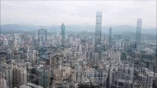 SHENZHEN in China from above !!