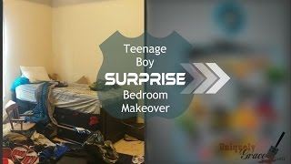 Teenage Boy Surprise Bedroom Makeover Reveal