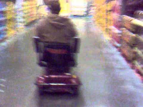 Cruising costco on a mobility scooter