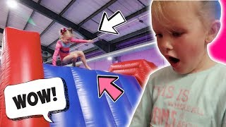 6 YEAR OLDS AMAZING GYMNASTICS INFLATABLE PARTY!