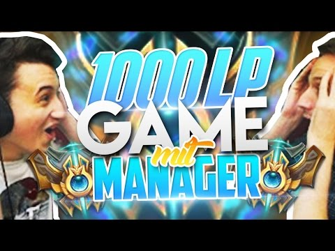 Mein MANAGER im 1000 LP CHALLENGER SoloQ Game | powered by Nvidia