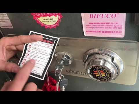 Cách mở khóa két sắt BiFuCo Koria Hàn quốc đúng kỹ thuật nhất