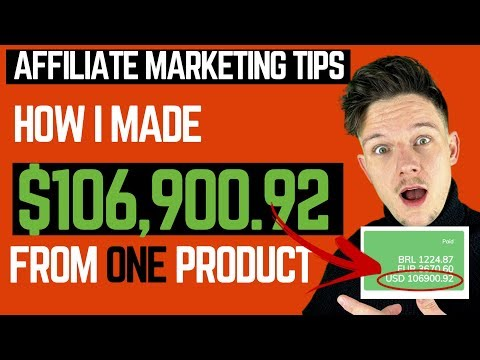 Affiliate Marketing Tips - How I made 6 Figures from ONE Affiliate Product. thumbnail