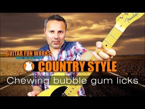 Bubble Gum Country Licks Guitar Lesson