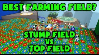 Miglior campo agricolo? Stump Field vs Top Field - Roblox Bee Swarm Simulator