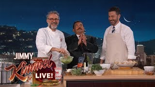 Chef Massimo Bottura Cooks Meal with Food from Kimmel Writers' Fridge