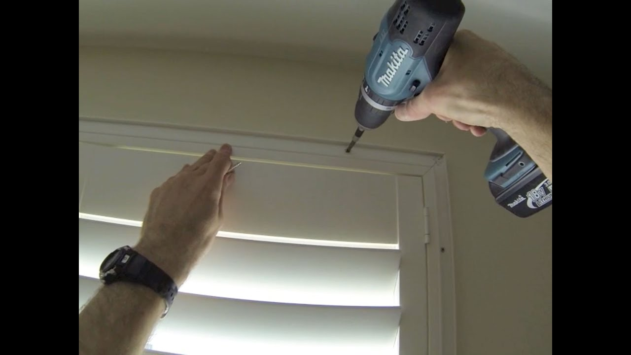 How To Install Or Fit A Deco Diy Shutter Frame To A Window That Tilts Inwards Youtube