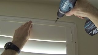 How To Install Or Fit A Deco Diy Shutter Frame To A Window That Tilts Inwards