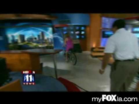 Lisa Breckenridge Crashes Her Bike