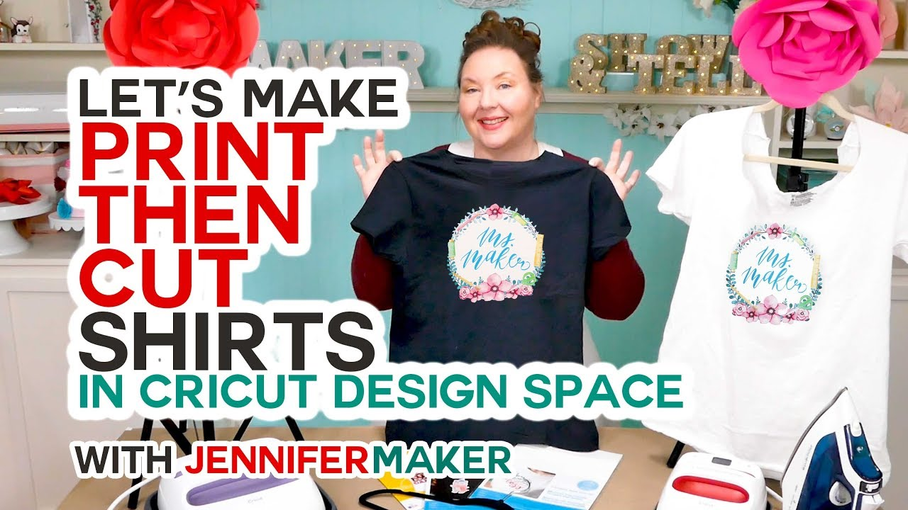 Print Then Cut Cricut Transfer T-Shirts - Jennifer Maker