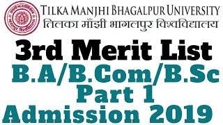 Final merit list of admission in b com