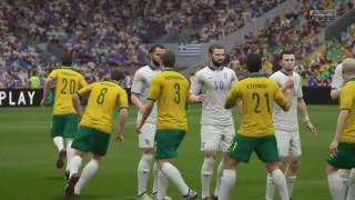 FIFA 16 GAMEPLAY  International Friendly Australia VS Greece Game 1