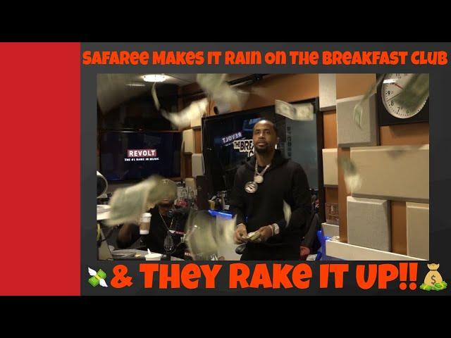 Safaree Makes It Rain On The Breakfast Club, They Rake It Up 💰💰💰