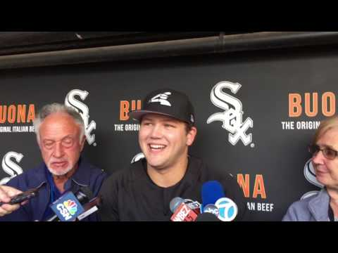 White Sox first-round draft pick Jake Burger talks at Guaranteed Rate Field (2/2)