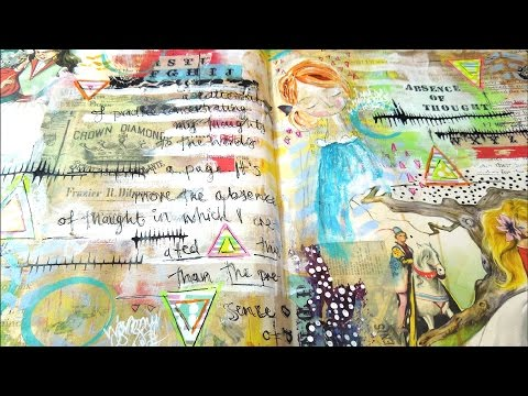Your Favourite Ever Art Journal Page ~ A Timelapse Process