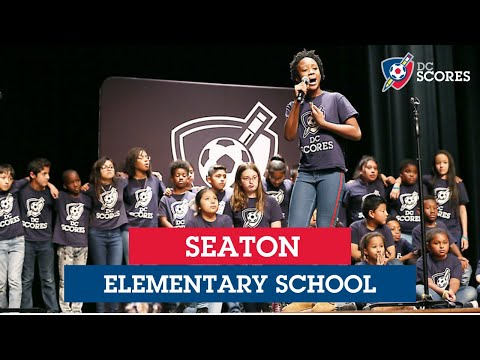 Seaton Elementary School performs at the 2019 Westside Poetry Slam