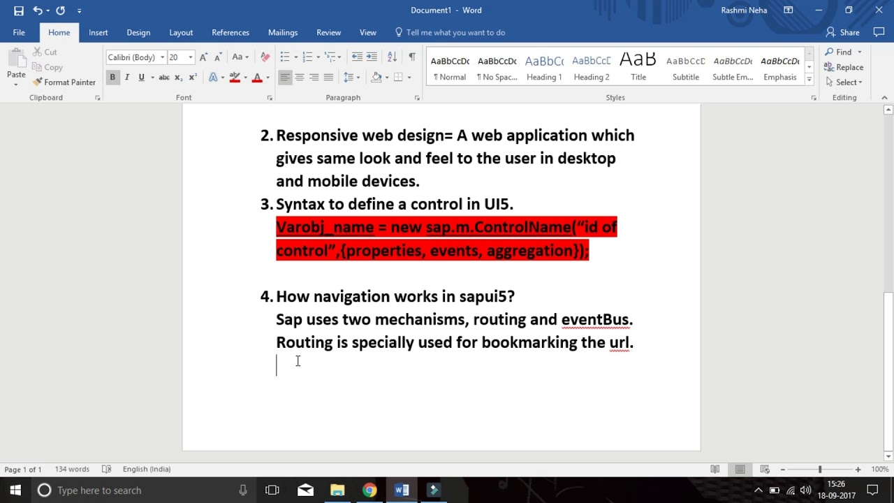 SAP UI5 : Interview tips and suggestions