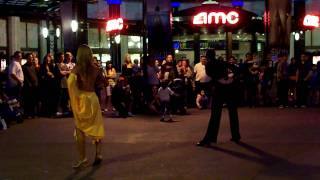 Dancers Dancing Latin Samba Dance in [HD] Downtown Disneyland Anaheim CA