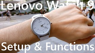 Lenovo Watch 9 Setup and Functions ⌚