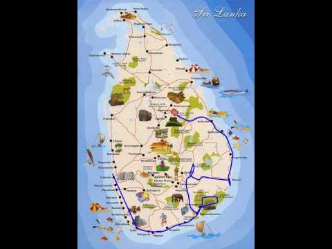 Sri Lanka 2015 travel route