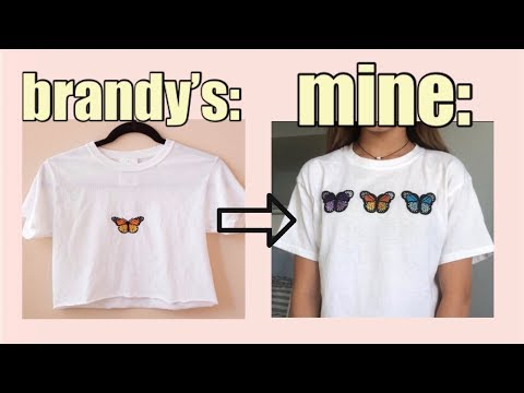 I tried diy-ing brandy melville clothes