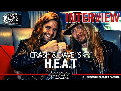 "H.E.A.T. - Crash & Dave ""Sky"" interview @Linea Rock 2017 by Barbara Caserta"
