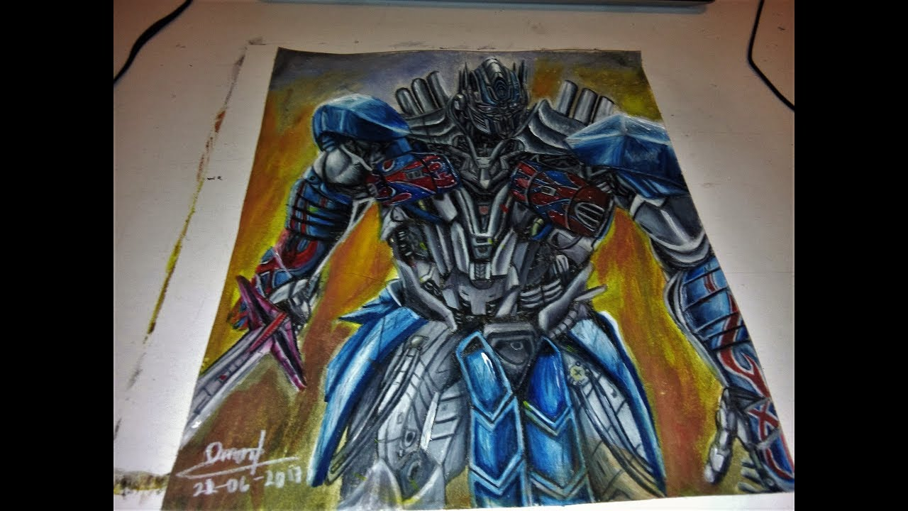 Speed Drawing Optimus Prime Transformers The Last Knight Youtube