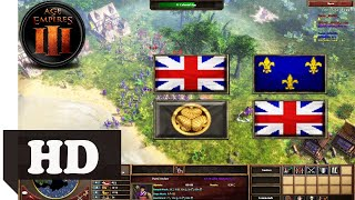 2v2 Japan & British Team Indochina! AOE 3