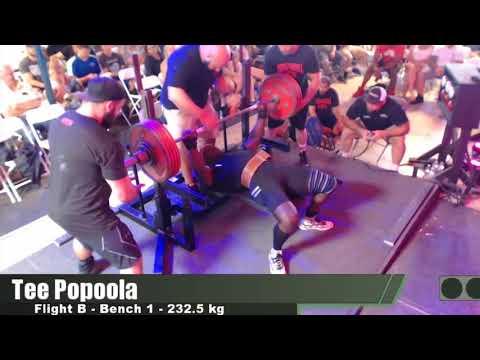 Tee Popoola - 912.5 kg/2011.7 lbs Total -...