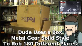 Dude Uses a Box Metal Gear Solid Style To Rob 180 Different Places