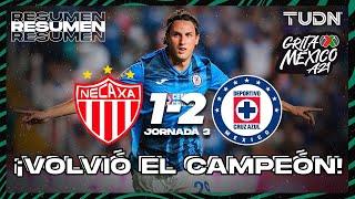 Resumen y goles   Necaxa 1-2 Cruz Azul   Grita México BBVA AP2021 - J3