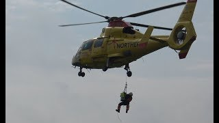 Offshore Helicopter Northern Rescue Zero One Intensivtransport Landung + Start
