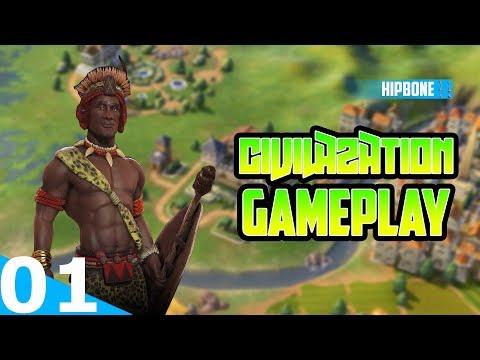 Civilization 6 Rise & Fall - Zulu Gameplay #01 - BOOM SHAKA-LAKA!