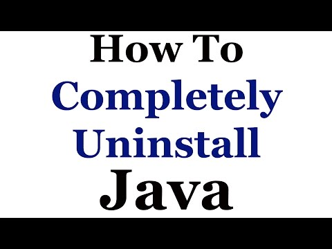 How To Completely Remove Java From Microsoft Windows 7 & 8
