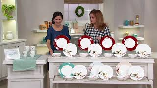 Lenox Chirp 12-Piece Bone China Dinnerware Set on QVC