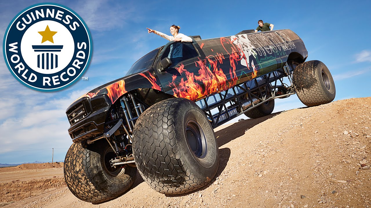Video 9 8 Metre Long Monster Truck Storms Into Guinness World Records 2017 Book Guinness World Records