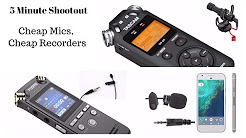5 Minute Gear Shootout - Cheap Mic & Audio Recorders