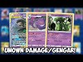 Trying To Win With Unown DAMAGE/Gengar! Big Brain Plays & Pokemon lol Sword & Shield PTCGO
