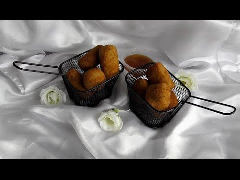 Bakkeljauwballetjes/Cassave kroketten/ Bakkeljauwnuggets/CassavBorrelhapje (Vis, snack)