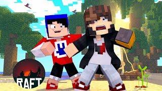 Minecraft: RAFT - NOVA SERIE - ‹ JUAUM › #01