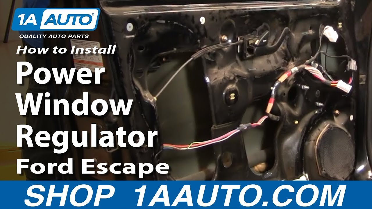 how to install replace front power window regulator ford escape mercury mariner 01 07 1aauto com youtube [ 1920 x 1080 Pixel ]