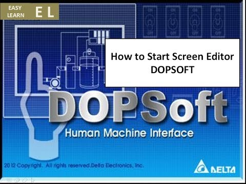How to Start Screen Editor DELTA HMI DOPSOFT - YouTube
