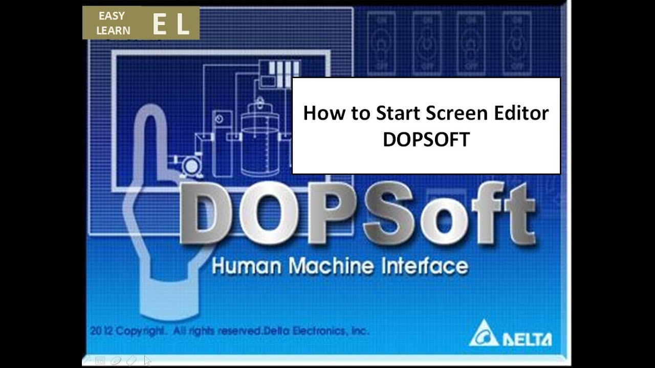 How to Start Screen Editor DELTA HMI DOPSOFT