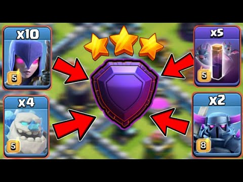 *NEW LEGEND ARMY* How To Use Bat Spell?! New TH13 Bat Mass Witch Ice Pekka Attack | Clash Of Clans