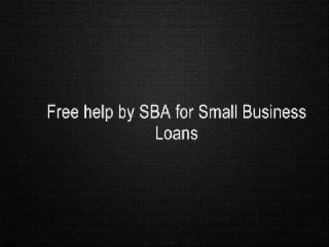 Free Help By SBA For Small Business Loans