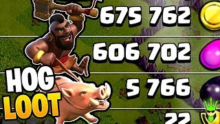 GAINING DARK ELIXIR WITH HOG RIDERS! - Lets Play TH9 - Clash of Clans