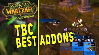 TBC CLASSIC BEST AĎDONS | Must Have Addons & Settings - ElvUI, Grid2 & Much More!