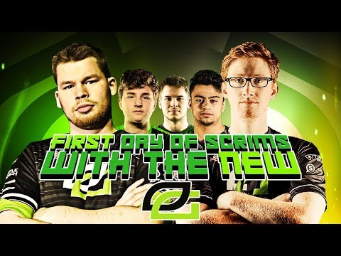 FIRST DAY OF SCRIMS WITH THE NEW OPTIC!! (COD: BO4)