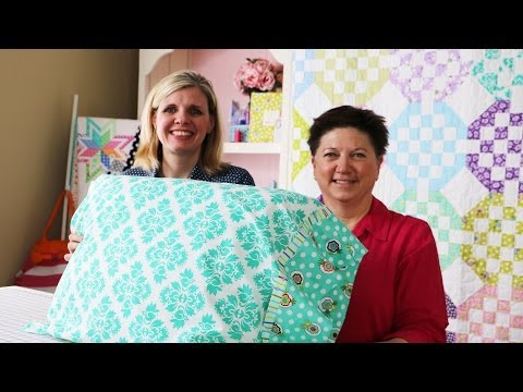 How To Make A Standard Pillowcase Using Dilly Dally
